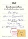Mitgliedsbuch der SDP